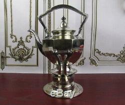 Gorgeous Antique Sheffield Tea Pot Kettle Edwardian With Burner PAT Jan 12 1892