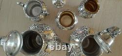 Gorgeous Reed & Barton KING FRANCIS Silverplate Coffee/Tea Pot Set 6 pieces