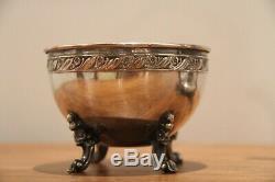 Gorgeous Silver on Copper Tilting tea pot sugar cube or tea bag holder