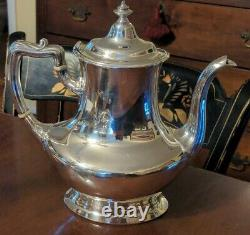 Gorham Silverplate Tea Service Set Elegant American Waste Bowl Creamer Sugar