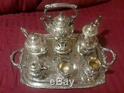 HERITAGE 1847 Silver Tea Service, 7 pcs, ROGERS BROS