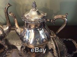 INTERNATIONAL Silver plated COUNTESS Tea & Coffee 5 Piece Set