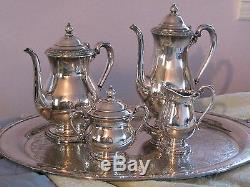 International Silver Camille Coffee Tea Sugar Creamer Bon Bon Bowl Waiter Tray