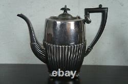 Israel Freeman & Son Art Deco Sheffield England Silver Plate 9 Pc Tea Coffee Set