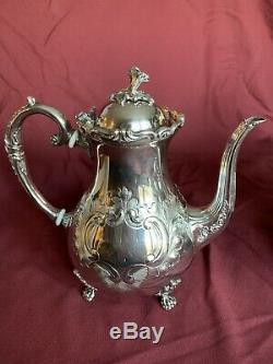 John Turton Sheffield England Silverplate Tea Set