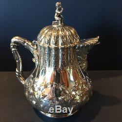 Jones Ball and Poor American Coin Silver Tea Set Boston W&G Circa Late 1840's
