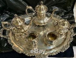 Lancaster Rose 6-Piece Silver Plate Tea Set by Poole