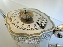 Large Victorian Silver Plated 4 Piece Tea Set, Circa 1880