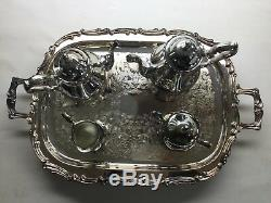 Leonard 5pc Silverplate Tea Set With Original Packaging