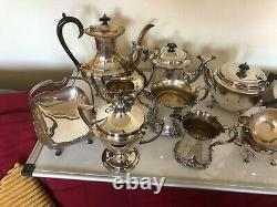 Lovely Lot Of Silver Plated Items, Tea Services, Swing Baskets Coffee Pots Etc