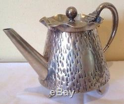 MID 20th CENT. MODERNISM DESIGNER TEA SET, silver plate by Robert Brearly