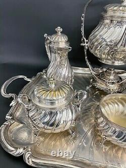 Magnificent French Christofle Silver Plated Coffee & Tea Set