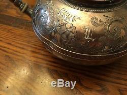 Meriden B Company Quadruple Plate 5 Piece Coffee/Tea Service