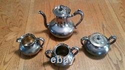 Meriden B Company Silverplate Tea Set 4 Piece Set