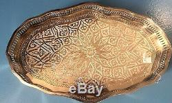 Moroccan Serving Tray Silver Tea Tray From FezNEW