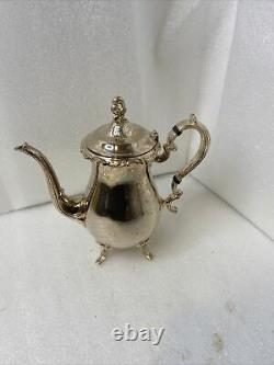 Newport Gorham Silverplate 5 Piece Coffee Tea Set with Tray Yb502