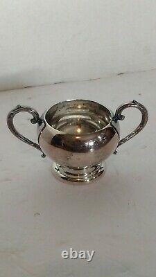 Nice Vintage Silver Plated Coffee Tea Set 5 Pcs English
