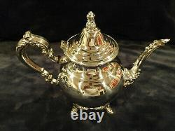 ONEIDA Silver Plated 5 Piece Coffee Tea Set With Serving Tray