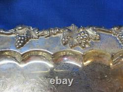 Ornate Silver Plate Tea & Coffee set, Large Tray, Creamer/Sugar/Waste