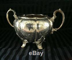 Outstanding Ten -piece Antique silver on copper tea set