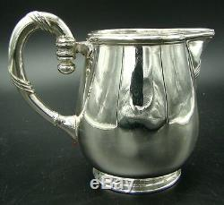 Pristine French Christofle Silver Plate Halphen Tea and Coffee Set with Tray