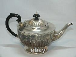 Quality 4 Piece Silver Plated Heavy & Top Quality Tea Coffee Service On A Tray