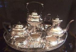 Queen Ann English Silver Plate Tea/Coffee set