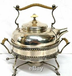 RARE Solid Sterling Silver Baldwin & MIller Tea Spirit Kettle Warmer Stand