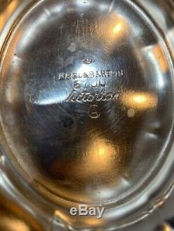 REED & BARTON Victorian SILVERPLATE 5-PC TEA/COFFEE SERVICE, RARE Numbered 6700