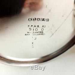 Rare 4 Piece Silver Plated Hotel Ware Tea/coffe Service H L &Co Hamilton Laidlaw