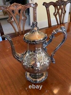 Rare Fancy Coffee Tea Set Silver Plate Meriden Britannia Co. Mint