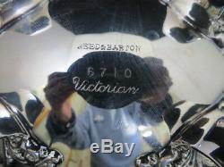 Reed & Barton 7 Piece Silver Tea Set Victorian