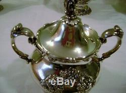 Reed & Barton King Francis Silverplate Tea Pot, Coffee Pot, Creamer, Sugar