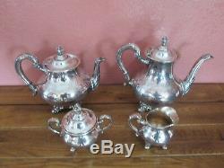 Reed & Barton Regent 5600 Silver Plate Tea Set Coffee Tea Cream Sugar