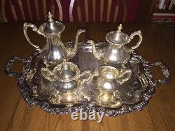 Reed & Barton Sheffield Co. Silver-Plated 5-Piece Matching Tea Set Ornate