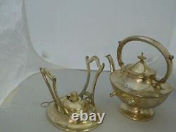 Reed & Barton Silver Plated Coffee/tea Kettle With Burner And Stand