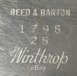 Reed & Barton Silver Plated WINTHROP Shield 1795 Large Waiter Tray for Tea Set