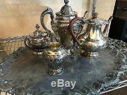 Reed & Barton Silver Renaissance Silver plate tea set NO PLATTER