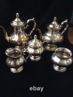 Reed & Barton Silverplate #7020 5 PC Coffee & Tea Set