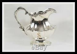 Reed & Barton Victorian (1954-1955) 6 Pc. Silver Plate Tea Set Monogram S