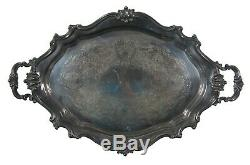 Reed & Barton Victorian Silverplate Holloware Serving Coffee or Tea Tray 6705