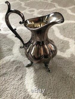 Reed & Barton Winthrop Pumpkin Silverplate 4pc Footed Coffee Tea Set #1795