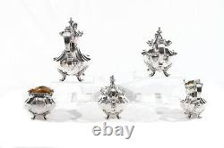Reed and Barton Victorian 5 Piece Silver Plate Tea and Coffee Set #6710