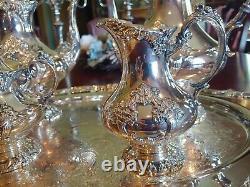 Reed and barton king francis silverplated tea set