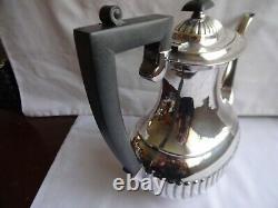 Reproduction Art Deco Ashberry Silver Plated EPNS A1 Tea & Coffee Set 4 Piece