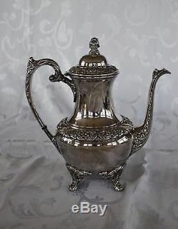 Rogers Bros COFFEE TEA SET 1847 Silverplate HERITAGE Pot Teapot Tray 9401 9492