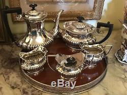 SHEFFIELD England Coffee / Tea Set 5 Ps Plus Italian Tray