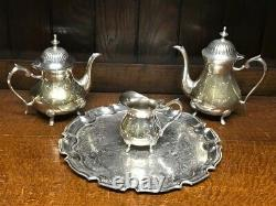 SILVER PLATED TEA COFFEE SERVICE SET 4 pieces -PL-7038
