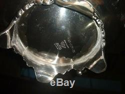 Sheffield style hand chased silver tea set with tray & bonus pieces, 10 pc total