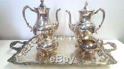 Sheridan Silver Plated Tea/Coffee Set (4 Piece Set) (kp0 14.5)